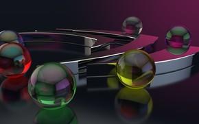 Picture 3D graphics, computer art, 3D graphics, компьютерный арт, прозрачные шары, transparent balloons