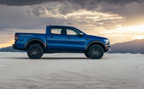 Picture Ford, side view, Raptor, pickup, Ranger, 2019