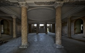 Picture interior, hall, columns