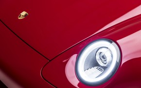 Picture red, coupe, headlight, 911, Porsche, the hood, emblem, body, 993, 2017, Gunther Plant, 400R Coupe