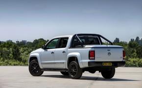 Picture Volkswagen, rear view, pickup, Amarok, 2014, UK Version, Dark Label