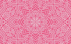 Picture texture, ornament, pattern, floral, seamless, dark pink