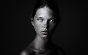 Picture girl, portrait, monochrome, Stella-Maria, Danil Rudoy