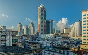 Picture the city, day, Thailand, Bangkok, clear skies