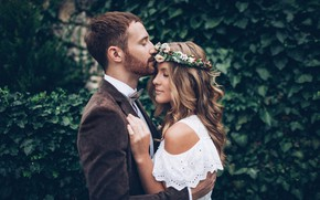 Picture nature, lovers, pair, male, girl, photo, kiss, hugs