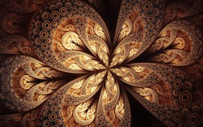 Picture background, pattern, fractal, brown