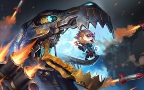 Picture missiles, animal, Heimerdinger, Legends of Runeterra