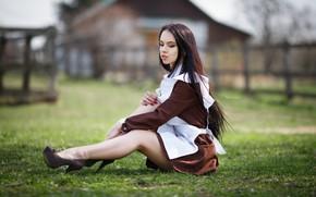 Picture pose, Girl, form, sitting, Maxim Romanov, Irina Sirina