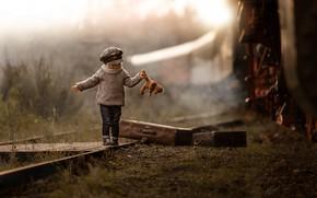 Picture train, railroad, child