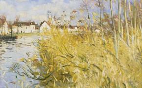 Picture landscape, picture, Pierre Eugène Montesin, Pierre-Eugene Montezin, Autumn in MISI-Sur-Yon