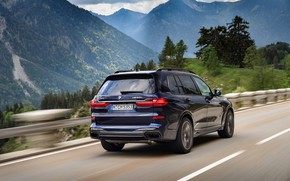 Picture BMW, mountain road, crossover, SUV, 2020, BMW X7, M50i, X7, G07