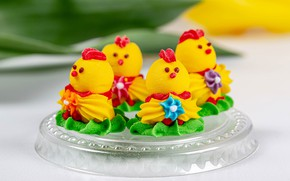 Picture chickens, cake, sweet