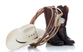 Picture hat, leather, boots