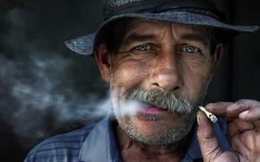 Picture people, portrait, cigarette