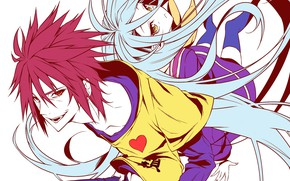Picture anime, art, girl, Pair, Anime, guy, Two, two, Art, No Game No Life, No game …