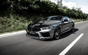 Picture BMW, convertible, G-Power, two-door, Bi-Turbo, 2020, BMW M8, M8, F91, M8 Convertible, black and grey, …