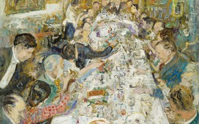 Picture picture, 1937, genre, Lucien Adrion, Lucien Adrion, Lunch Makeup artists Monsieur and Madame Paul Petrides