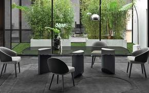 Picture interior, dining room, ekostil