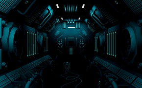 Picture station, corridor, sci-fi, equipment
