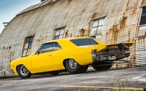Picture Chevrolet, Coupe, Yellow, Super Sport, Chevelle, Vehicle, Modified