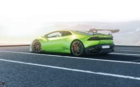 Wallpaper Auto, Lamborghini, Green, Machine, Rendering, Huracan, Lamborghini Huracan, Transport & Vehicles, by Praveen V. S, ...