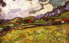 Picture Vincent van Gogh, Wheat Field, Behind Saint, Paul Hospital
