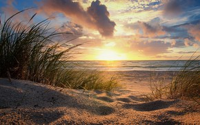 Picture beach, sunrise, morning
