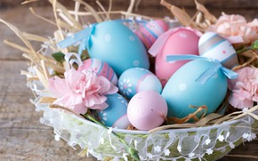 Picture flowers, Easter, basket, COMPOSITION, HOLIDAY