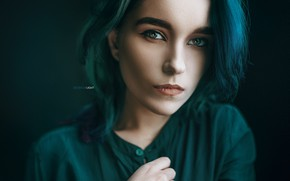 Picture girl, face, hair, portrait, makeup, Alexander Drobkov-Light, Maria Larina