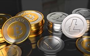 Picture coins, fon, coins, bitcoin, btc, litecoin, ltc