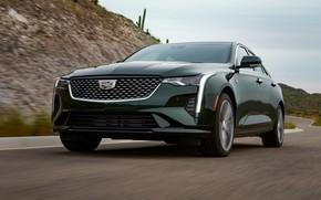 Picture asphalt, Cadillac, sedan, four-door, 2020, CT4