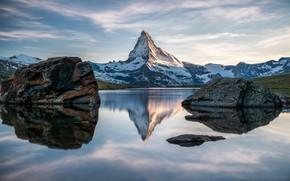 Picture Mountain, Switzerland, Nature, Matterhorn, Lake