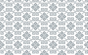 Picture white, grey, pattern, texture, ornament