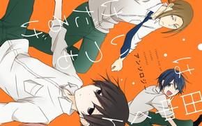 Picture anime, art, guys, tanaka kun wa itsumo kedaruge