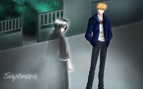 Picture Bleach, Bleach, Ichigo Kurosaki, Rukia Kuchiki, empty street