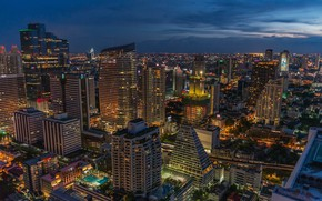 Picture night, the city, building, Thailand, Thailand, Bangkok, the urban landscape
