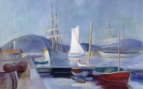 Picture boat, ship, picture, Sailboats, Henri Ottmann, Henri Ottmann