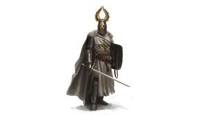 Picture Minimalism, Armor, Sword, Helmet, Knight, Shield, Knight, Minimalism, Sword, Pearls, Shield, Armor, Crusader, God Wants, …