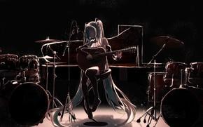 Picture girl, music, Vocaloid, Hatsune Miku