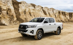 Picture white, Toyota, pickup, Hilux, Special Edition, 2019, double cab