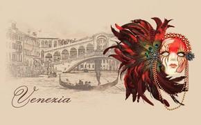 Picture mask, Venice, carnival, gondola, mask, venice, by Pyrus-acerba, коллекция городов