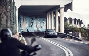 Picture road, transport, columns, car, Alpine A110S