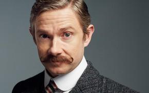 Picture mustache, Martin Freeman, Sherlock, Sherlock BBC, Sherlock Holmes, John Watson, Ugly bride, Sherlock (TV series)