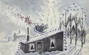 Picture 1945, Charles Ephraim Burchfield, Twas the Night before Christmas