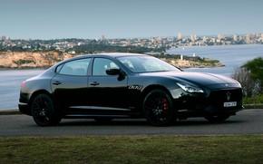 Picture Maserati, Quattroporte, the evening, Australia, 2018, GTS, AU-spec, GranSport, Nerissimo Edition