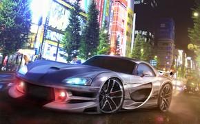 Picture Auto, The city, Machine, Dodge, Art, Viper, Dodge Viper, Supercar, Rendering, SRT10, Dodge Viper SRT10, …