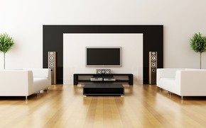 Picture home, lounge, technology, television, sound system