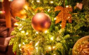 Picture balls, balls, Christmas, New year, tree, light bulb