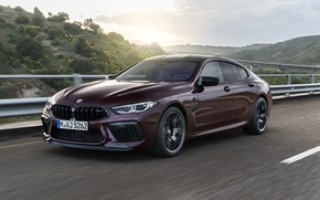 Picture movement, coupe, speed, BMW, 2019, M8, the four-door, M8 Gran Coupe, M8 Competition Gran Coupe, …