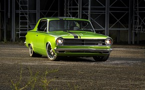 Picture Dodge, Car, Green, Dart